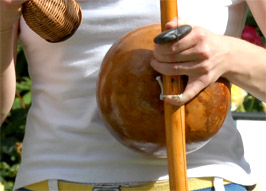 Playing Berimbau