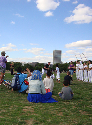 Capoeira Agora class in Hyde Park, August 2013